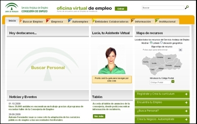 Empleo lanza una nueva oficina virtual del sae con 67 for Oficina virtual empleo